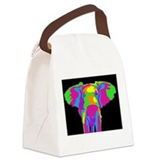 Rainbow Elephant Canvas Lunch Bag