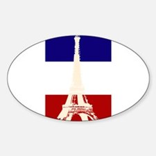 Eiffel Tower French Flag Rectangle Decal