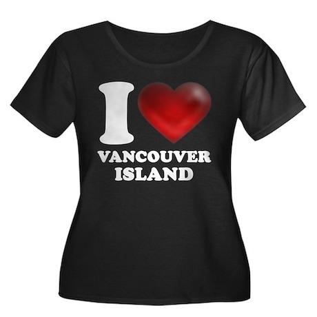I Heart Vancouver Island Women's Plus Size Scoop N