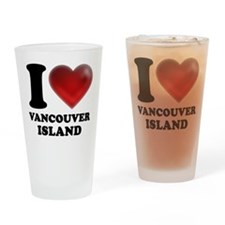 I Heart Vancouver Island Drinking Glass