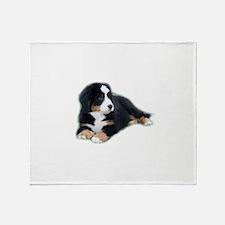 bernese-mountain-puppy_ Throw Blanket