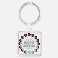 Moon Sisters Square Keychain