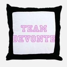 Pink team Devonte Throw Pillow