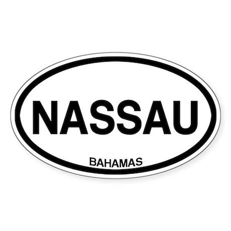 Nassau, Bahamas Sticker (Oval)