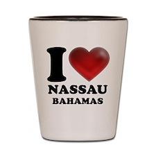 I Heart Nassau Bahamas Shot Glass