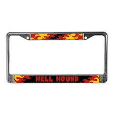 Retro Hell Hound License Plate Frame