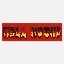 Retro Hell Hound Bumper Bumper Sticker
