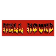 Retro Hell Hound Bumper Sticker