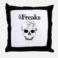 Das VW-Freaks Mascot - Branded Skull Throw Pillow
