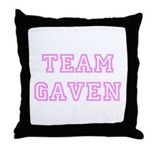Pink team Gaven Throw Pillow