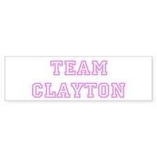 Pink team Clayton Bumper Bumper Sticker