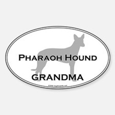 Pharaoh Hound GRANDMA Oval Decal