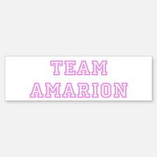 Pink team Amarion Bumper Bumper Bumper Sticker