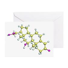 Corticosterone hormone molecule - Greeting Cards (