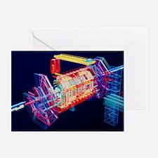 Computer art of ATLAS detector - Greeting Cards (P