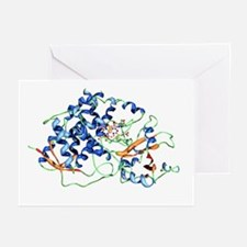 Cytochrome P450 molecule - Greeting Cards (Pk of 2