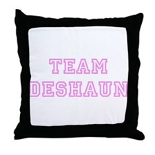 Pink team Deshaun Throw Pillow