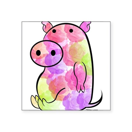 ROSEY PIG Rectangle Sticker