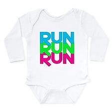 Run Run Run Long Sleeve Infant Bodysuit