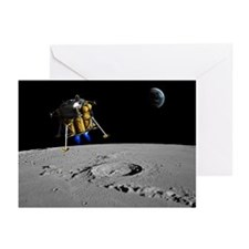 Moon lander, artwork - Greeting Cards (Pk of 20)