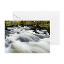 River Teign in autumn, Devon - Greeting Cards (Pk