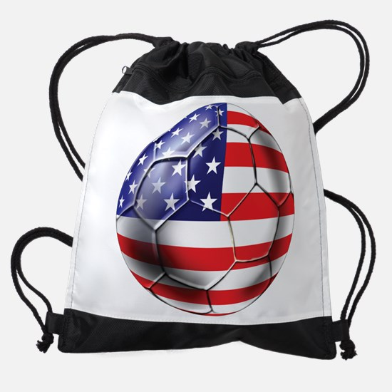 Usa Soccer Ball Drawstring Bag
