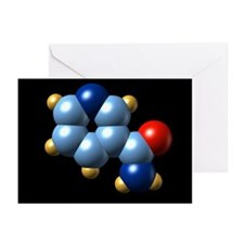 Vitamin B3 (nicotinamide) molecule - Greeting Card