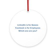 LinkedIn Ornament (Round)