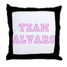 Pink team Alvaro Throw Pillow
