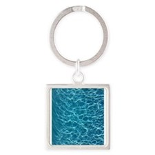 Cool Pool Water Square Keychain