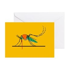 Anopheles mosquito, artwork - Greeting Cards (Pk o