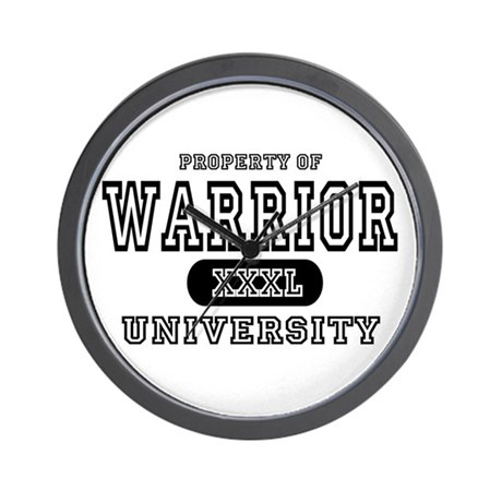 Warrior University Property Wall Clock