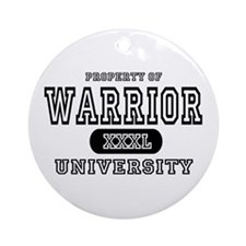 Warrior University Property Ornament (Round)