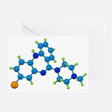 Clozapine antipsychotic drug molecule - Greeting C