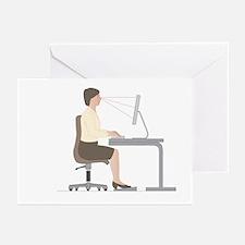 Correct computer use position, artwork - Greeting