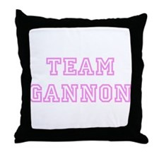 Pink team Gannon Throw Pillow