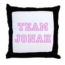 Pink team Jonah Throw Pillow