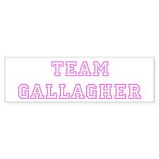 Pink team Gallagher Bumper Bumper Sticker
