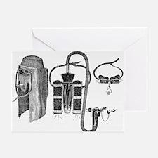 Loeb respirator, artwork - Greeting Cards (Pk of 2