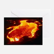 Lava flow at night - Greeting Cards (Pk of 20)
