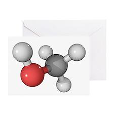 Methanol alcohol molecule - Greeting Cards (Pk of