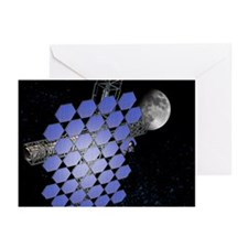 Mirror array in space, artwork - Greeting Cards (P