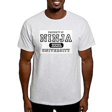 Ninja University Property Ash Grey T-Shirt