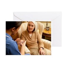 Nurse on a home visit - Greeting Cards (Pk of 20)