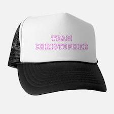 Pink team Christopher Trucker Hat