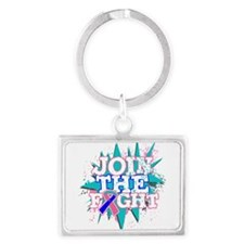 Join Fight Thyroid Cancer Landscape Keychain