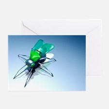 Robotic fly, artwork - Greeting Cards (Pk of 20)