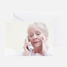 Senior woman talking on the telephone - Greeting C