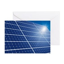 Solar panels in the sun - Greeting Cards (Pk of 20