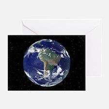 South America, satellite image - Greeting Cards (P